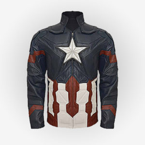Front View Of Age Of Ultron Captain Jacket