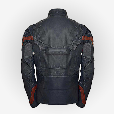 Back View of Captain America Age of Ultron Jacket