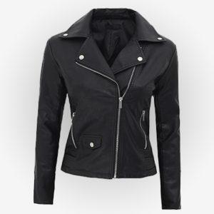 Womens Moto Black Leather Jacket