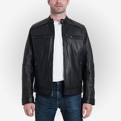 Men's Black Cafe Racer Jacket
