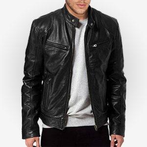 Chris Evans Avengers Endgame Cafe Racer Leather Jacket