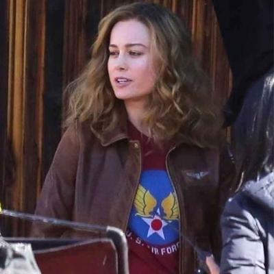 Brie Larson Bomber Flight Jacket in Captain Marvel Movie