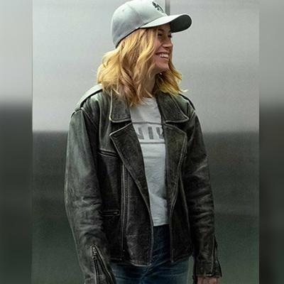 Captain Marvel Motorcycle Black Jacket