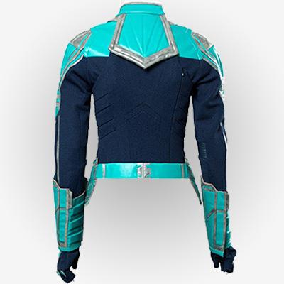 Carol Danvers turquoise blue Jacket