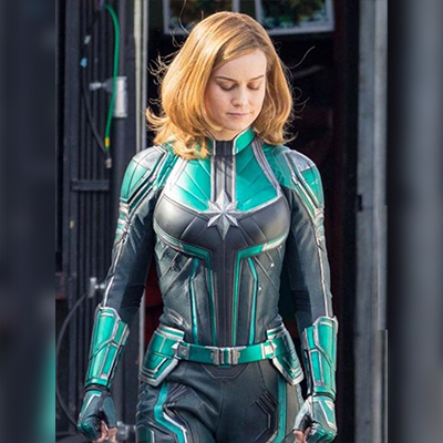 Green Leather Jacket worn by Brie Larson as Captain Marvel