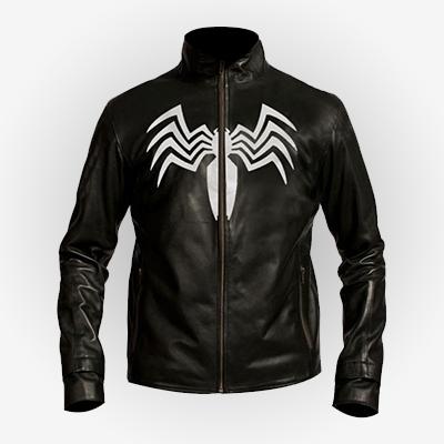 Venom Tom Hardy Black Spiderman Jacket
