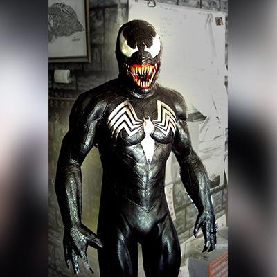 Venom Spiderman Black Jacket