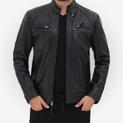 black leather jacket for men