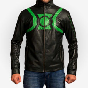 Green Lantern Cosplay Leather Jacket