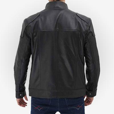 Mens Stylish Black Moto Jacket