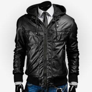 Slim Fit Jacket with Hoodie