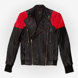 Mr Rager Black Leather Jacket
