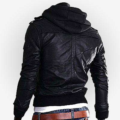 mens hooded slim fit jacket