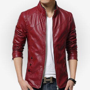 Slim Fit Red Jacket for Casual Wear