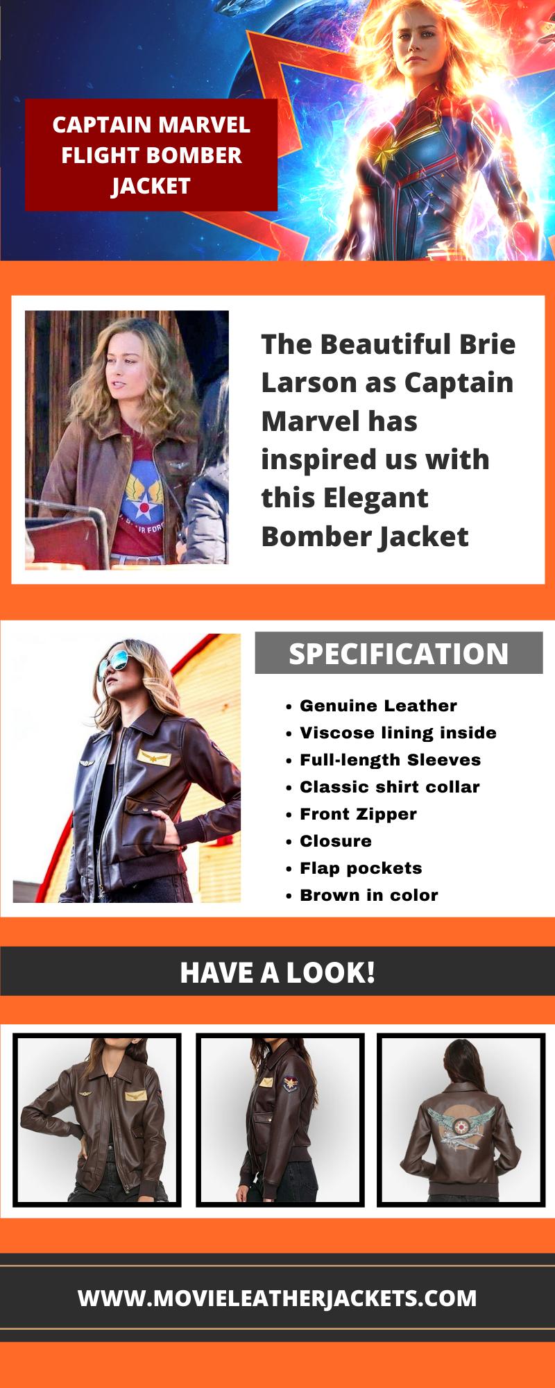 captain marvel flight bomber jacket