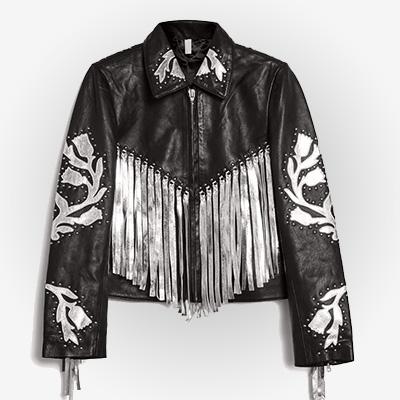 Metallic Fringe Harley Quinn Costume Jacket
