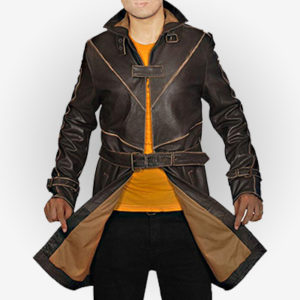 Watch Dogs Distressed Leather Coat