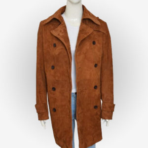 Chloe Decker Brown Leather Coat for Womens