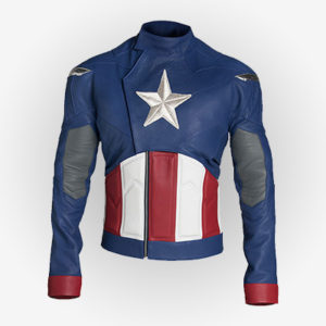 Captain America Leather Jacket from the Avengers