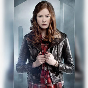 Amy Pond Jacket worn by Karen Gilla from Doctor Who Tv Show