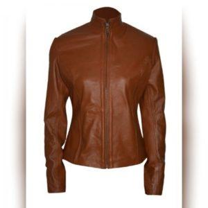 Martha Jones Brown Leather Jacket