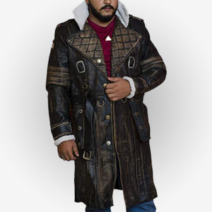 Arthur Maxson Leather Trench Coat for Mens