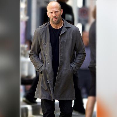 Jason Statham Fast 8 Grey Coat