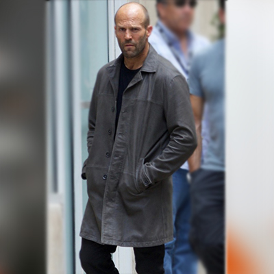 Grey Leather Coat from Fast 8