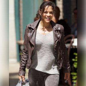 Michelle Rodriguez Brown Fast 8 Jacket