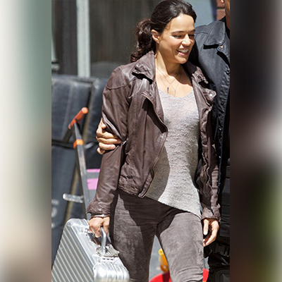 Leather Brown Letty Ortiz Jacket from Fast 8 Movie