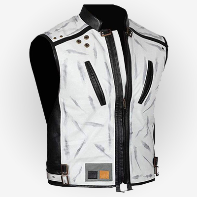 White Leather Vest from Solo: A Star Wars Story