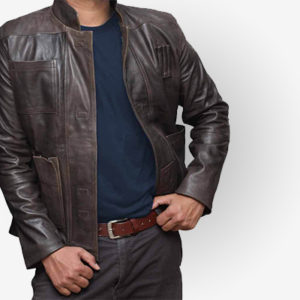 Han Solo The Force Awakens Leather Jacket