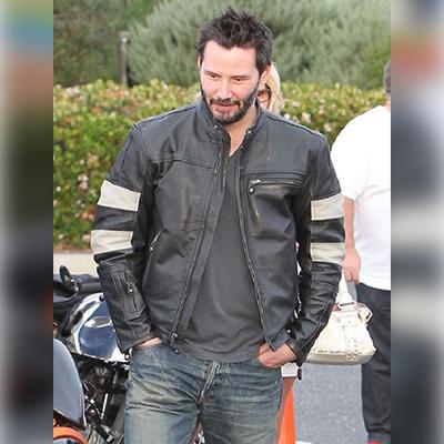 Biker Keanu Reeves Black Jacket