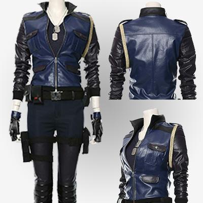 Stylish Sonya Blade Genuine Leather Jacket