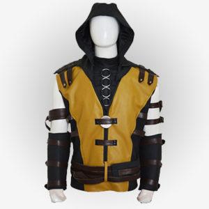 Mortal Kombat 10 Leather Vest for Mens