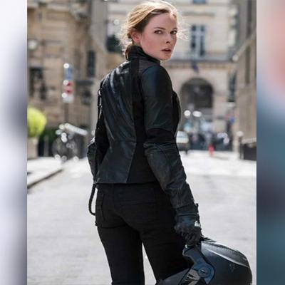 Mission Impossible Fallout Rebecca Fergus Biker Jacket