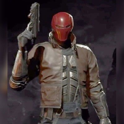 Injustice 2 Video Game Red Hooded Leather Jacket