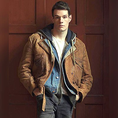 Adam Groff Shearling Jacket from Sex Education Series