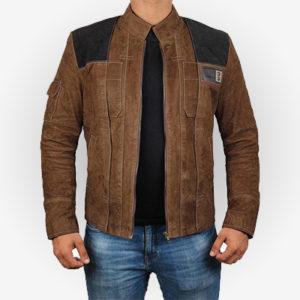 Star Wars Light Brown Suede Leather Jacket