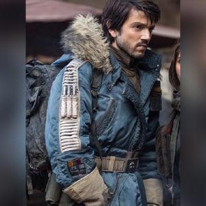 Captain Cassian Andor Leather Parka