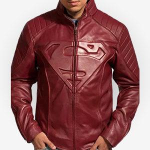Superman Clark Kent Jacket in Red
