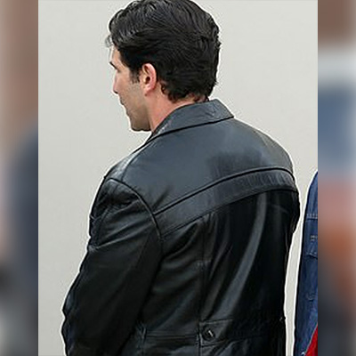 Men's Jon Bernthal Long Leather Coat