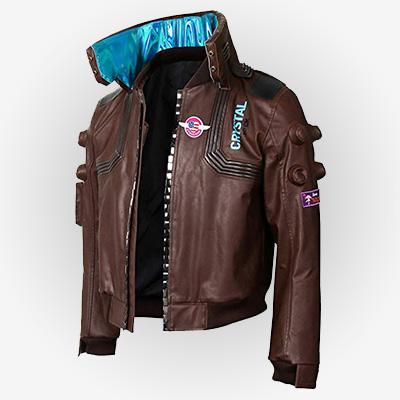 Cyberpunk 2077 Leather Bomber Cosplay Jacket