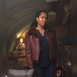 Regina King Brown Jacket from Watchmen