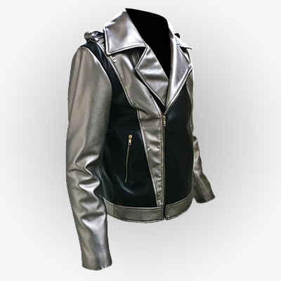 Even Peters Silver Motorcycle Leather Jacket