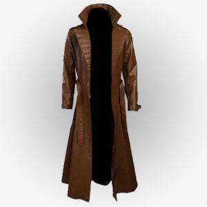 X-men Gambit Mens Leather Coat