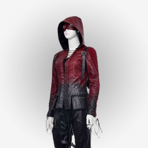 Thea Queen Cosplay Jacket with Hood from Arrow Series