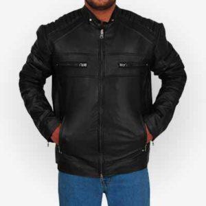 Stylish Cafe Racer Leather Jacket for Men