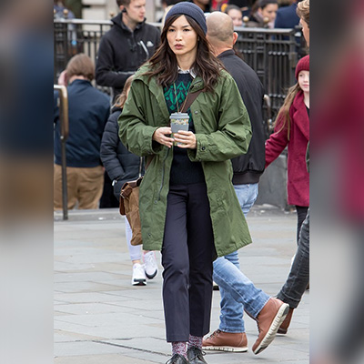 Gemma Chan The Eternals Coat for Women