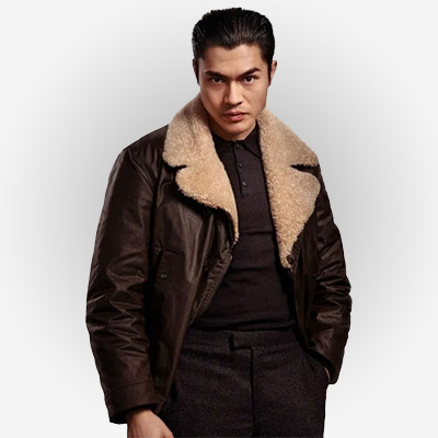 Henry Golding Costume Jacket with Fur Collar